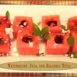 Watermelon, Feta, And Balsamic Bites