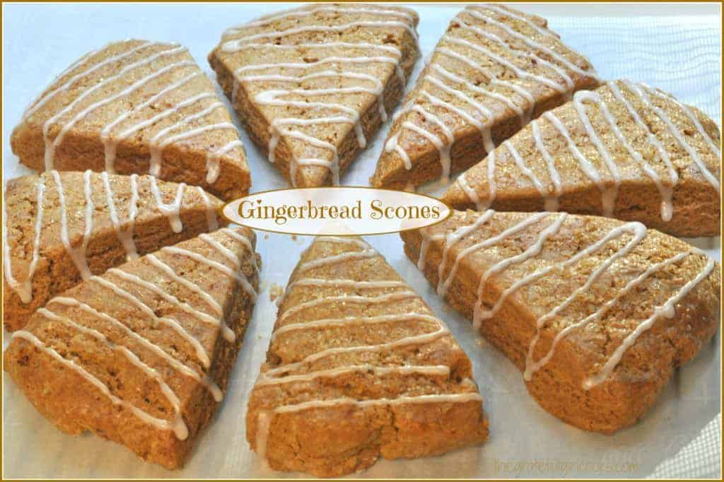 Gingerbread Scones / The Grateful Girl Cooks!