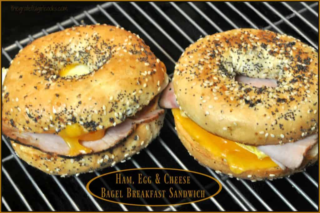 Ham, Egg & Cheese Bagel Breakfast Sandwich / The Grateful Girl Cooks!
