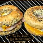 Ham, Egg & Cheese Bagel Breakfast Sandwich
