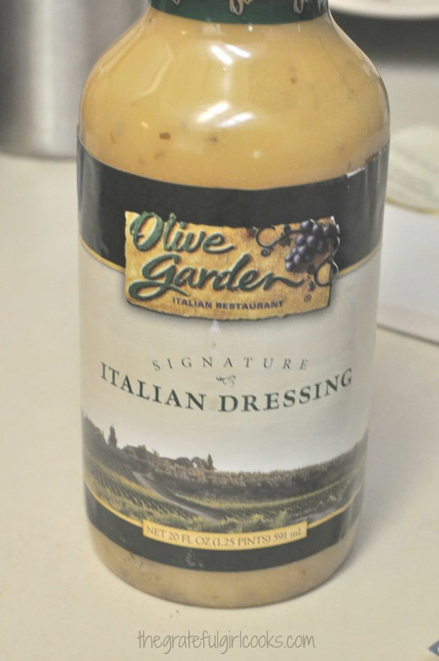 This is the salad dressing I use to dress the pasta salad.