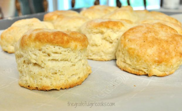 Tall, fluffy Southern style biscuits