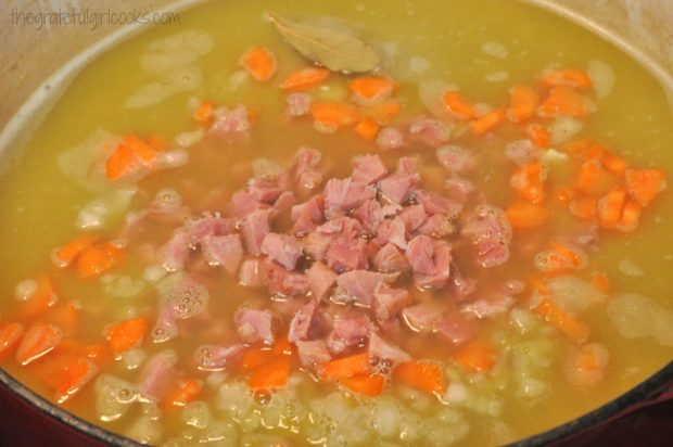 Split Pea and Ham Soup / The Grateful Girl Cooks!