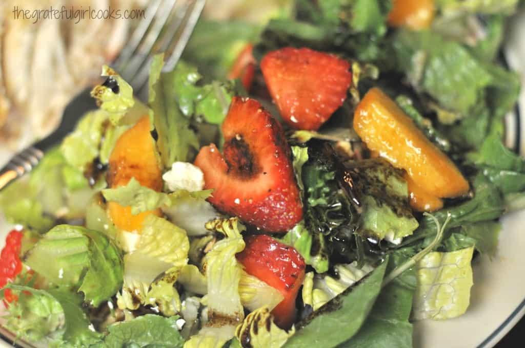Summer Fruit Medley Green Salad / The Grateful Girl Cooks!