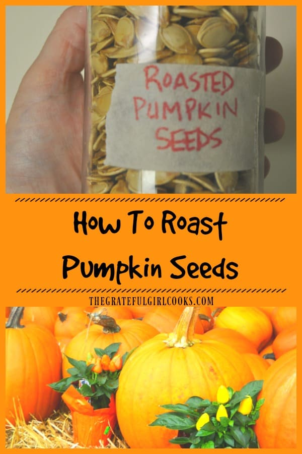 It's easy to roast pumpkin seeds, once you're done carving your Halloween pumpkins! With a few common ingredients, you can enjoy this simple crunchy snack!