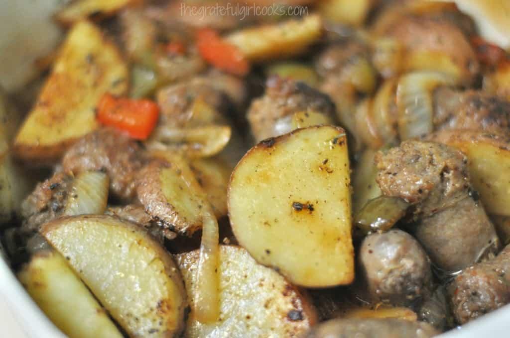 Italian Sausage & Potato Casserole / The Grateful Girl Cooks!