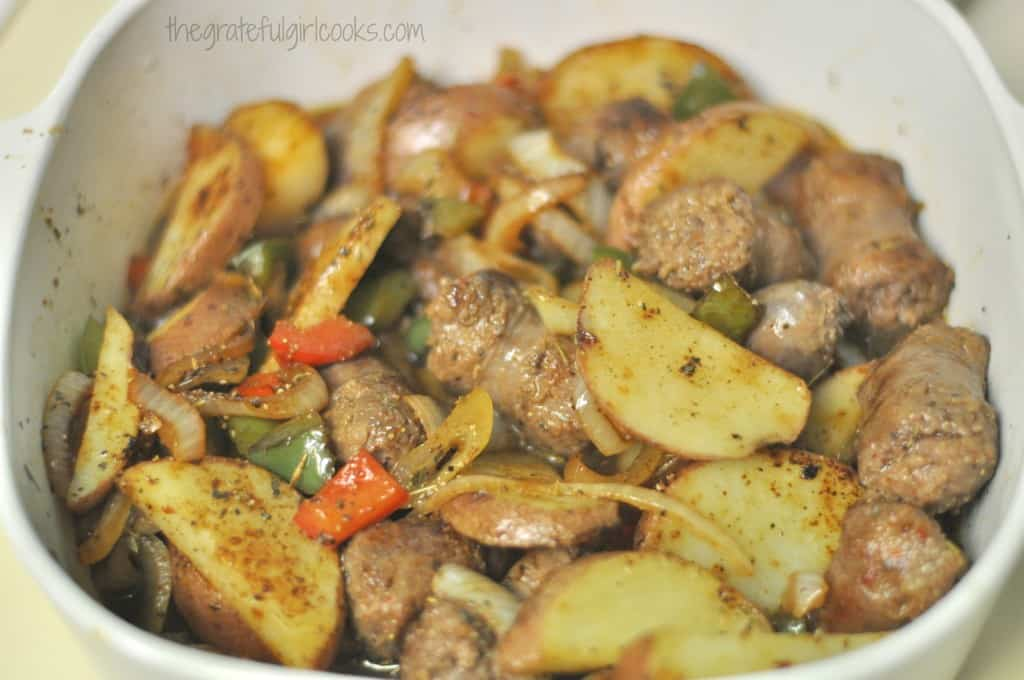 Italian Sausage & Potato Casserole / The Grateful Girl Cooks!