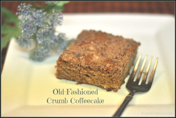 Simple yet delicious old-fashioned crumb coffeecake from recipe originally prepared for Los Angeles City School District students many years ago.