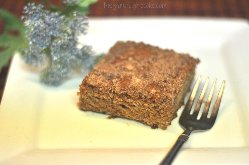Old-Fashioned Crumb Coffeecake / The Grateful Girl Cooks!