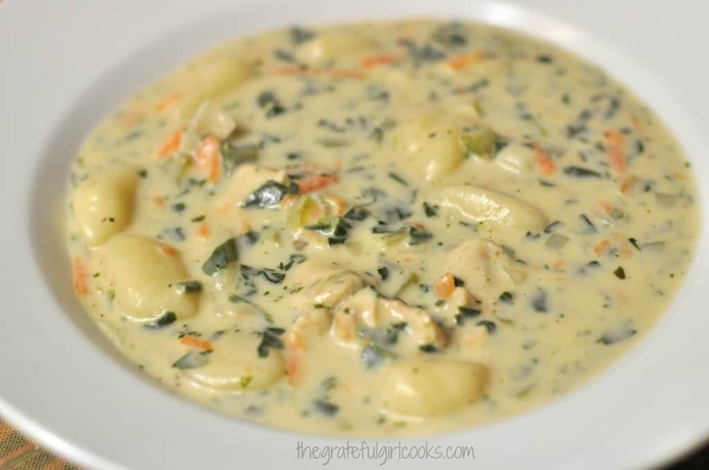 Olive Garden Chicken Gnocchi Soup / The Grateful Girl Cooks!