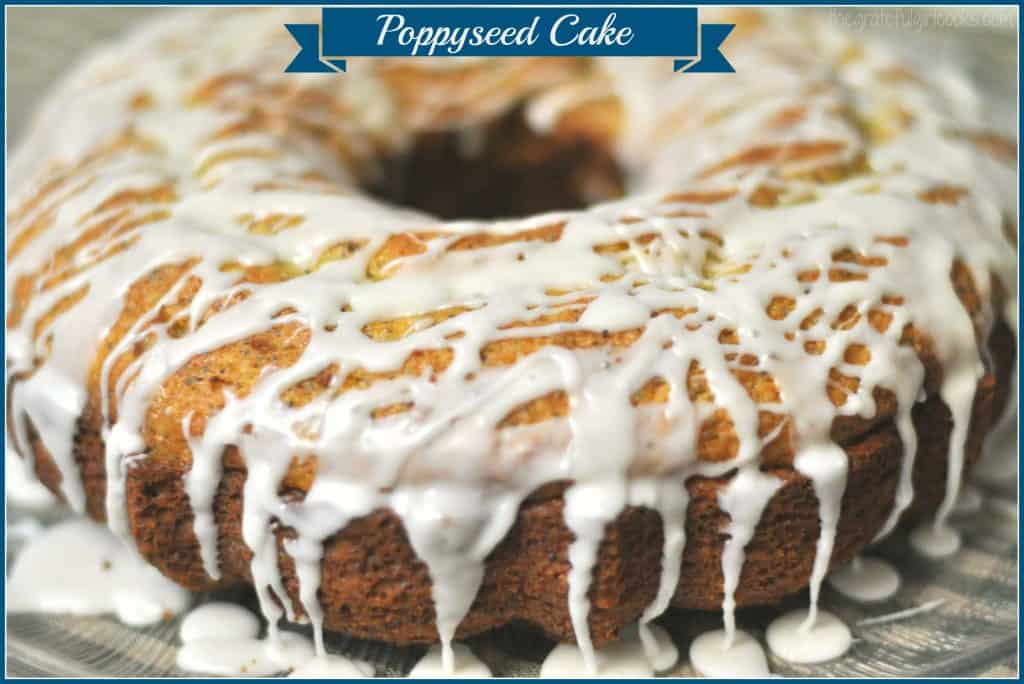 Poppyseed Cake / The Grateful Girl Cooks! Prep work on this delicious cake takes only 5 minutes, using a boxed cake mix!