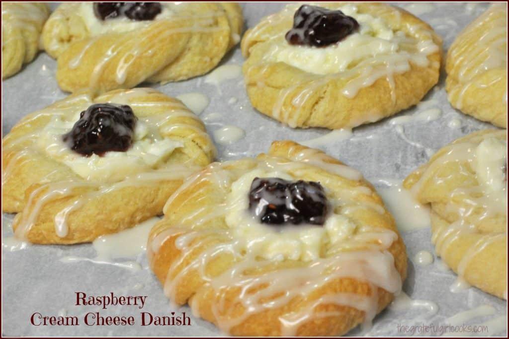 Raspberry Cream Cheese Danish / The Grateful Girl Cooks!