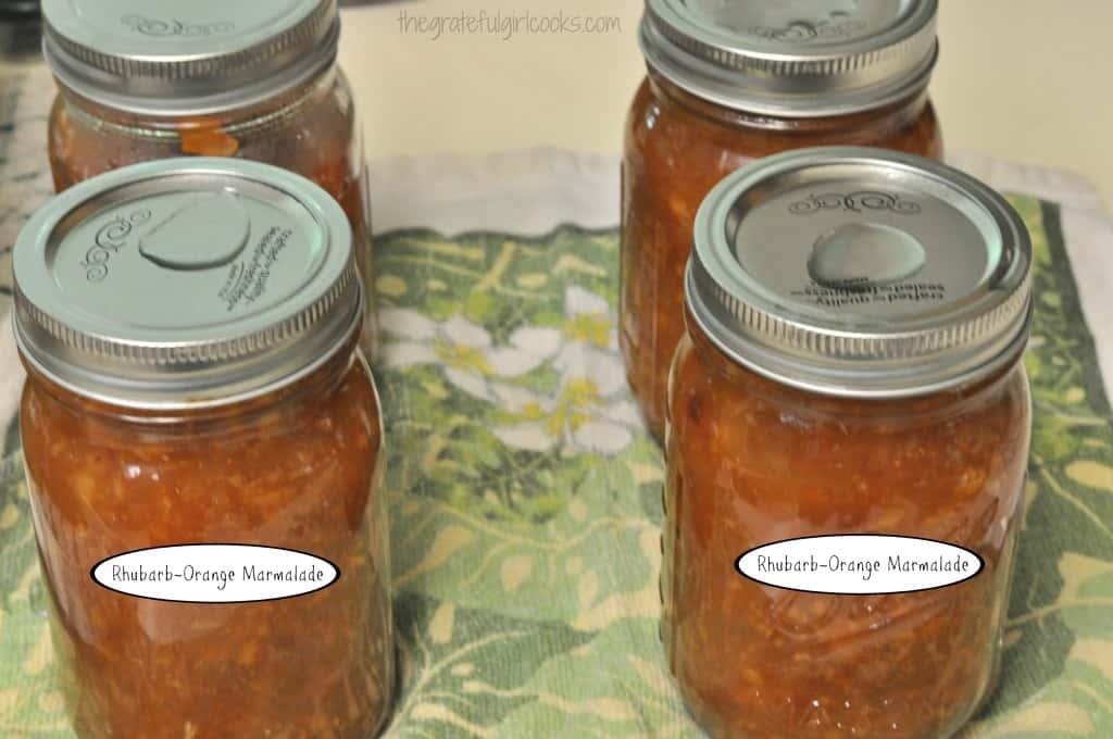 Rhubarb-Orange Marmalade / The Grateful Girl Cooks!