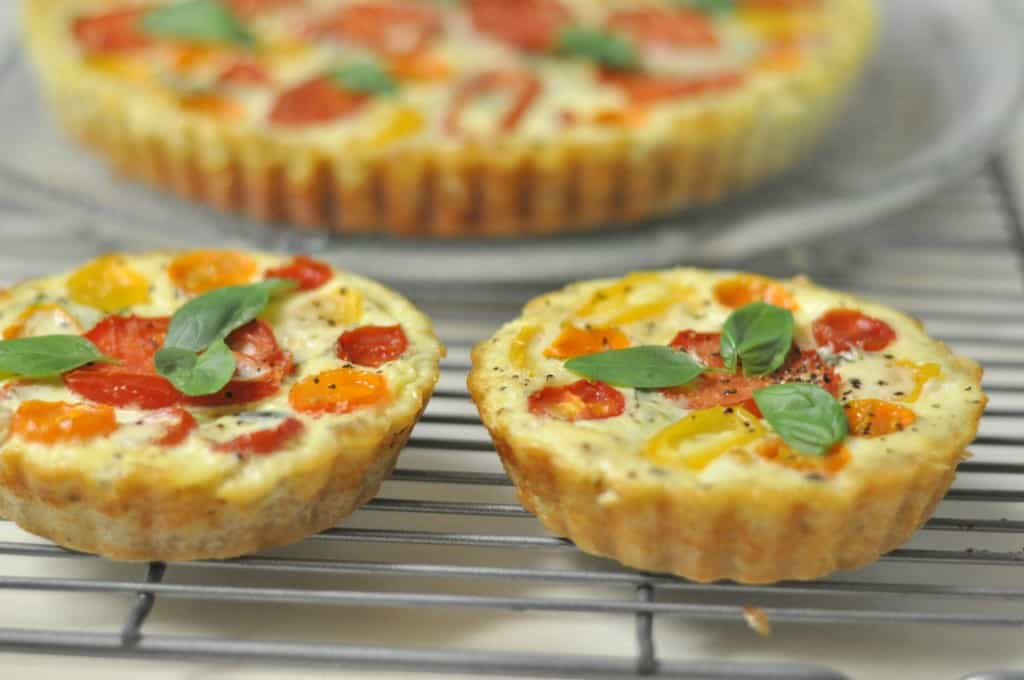 Tomato, Basil and Three Cheese Tart / The Grateful Girl Cooks!