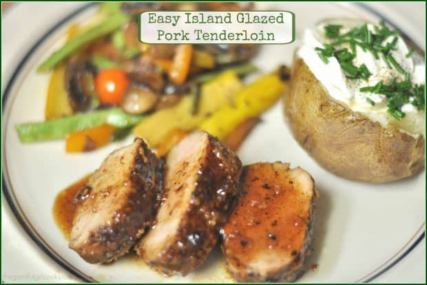 Easy to prepare in about 30 minutes, this scrumptious glazed pork tenderloin is coated with Island-inspired spices and a sweet/spicy glaze.