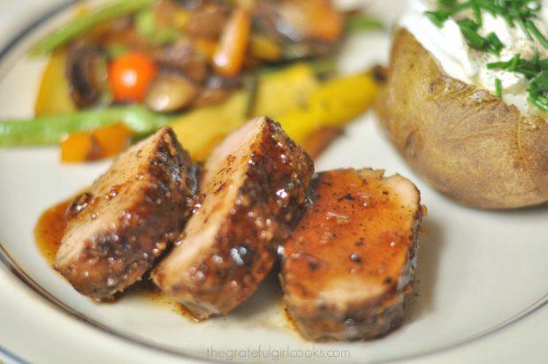 Easy Island Glazed Pork Tenderloin / The Grateful Girl Cooks!