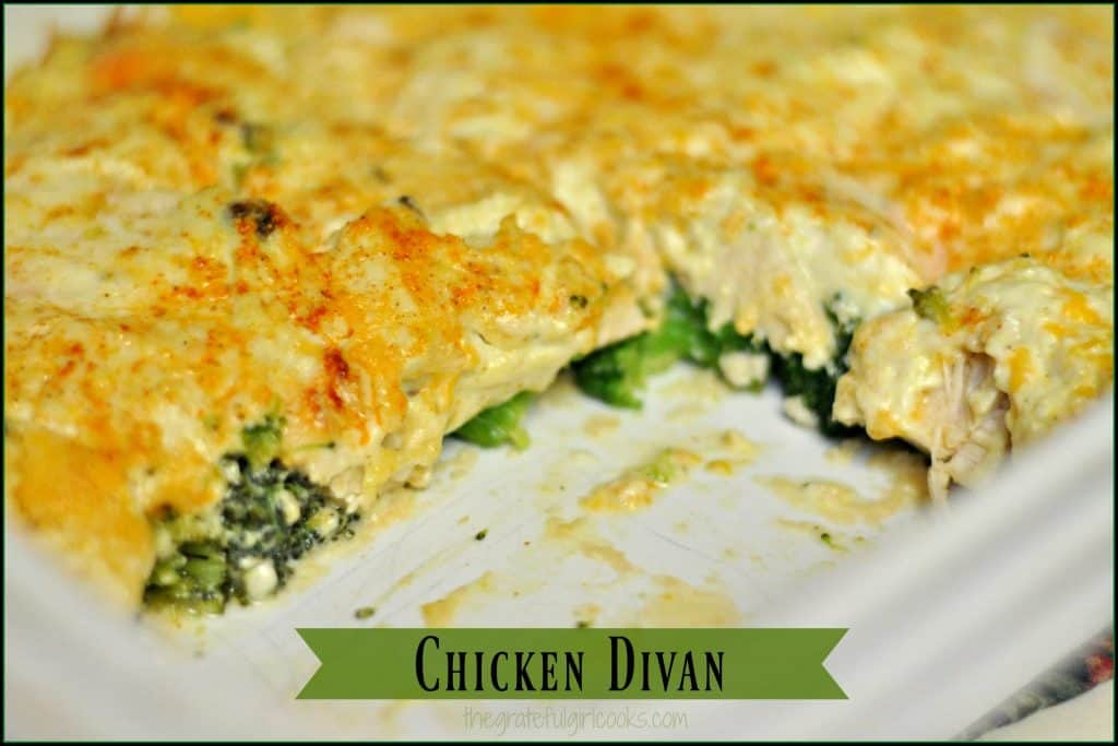 Chicken divan the grateful girl cooks for Divan familial