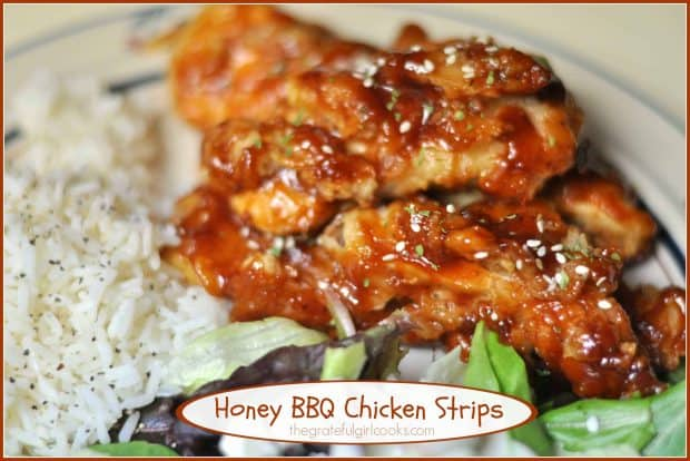 Honey Bbq Chicken Strips The Grateful Girl Cooks