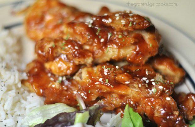 Honey BBQ Chicken Strips / The Grateful Girl Cooks!