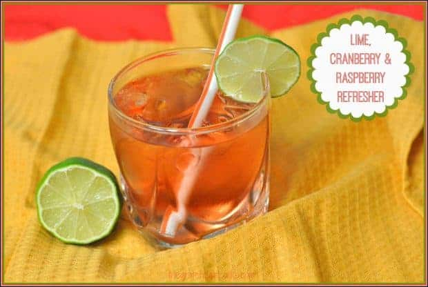 Lime Cranberry Raspberry Refresher is a family-friendly, delicious, sparkling, non-alcoholic beverage everyone can enjoy, especially on warm days!