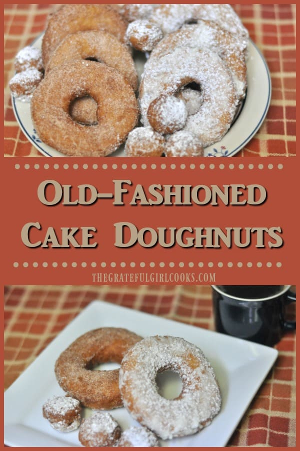 You'll be surprised how easy it is to prepare old-fashioned cake doughnuts, with hints of cinnamon and nutmeg. The recipe makes 12 doughnuts + holes!