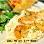Shrimp And Penne Pasta Alfredo