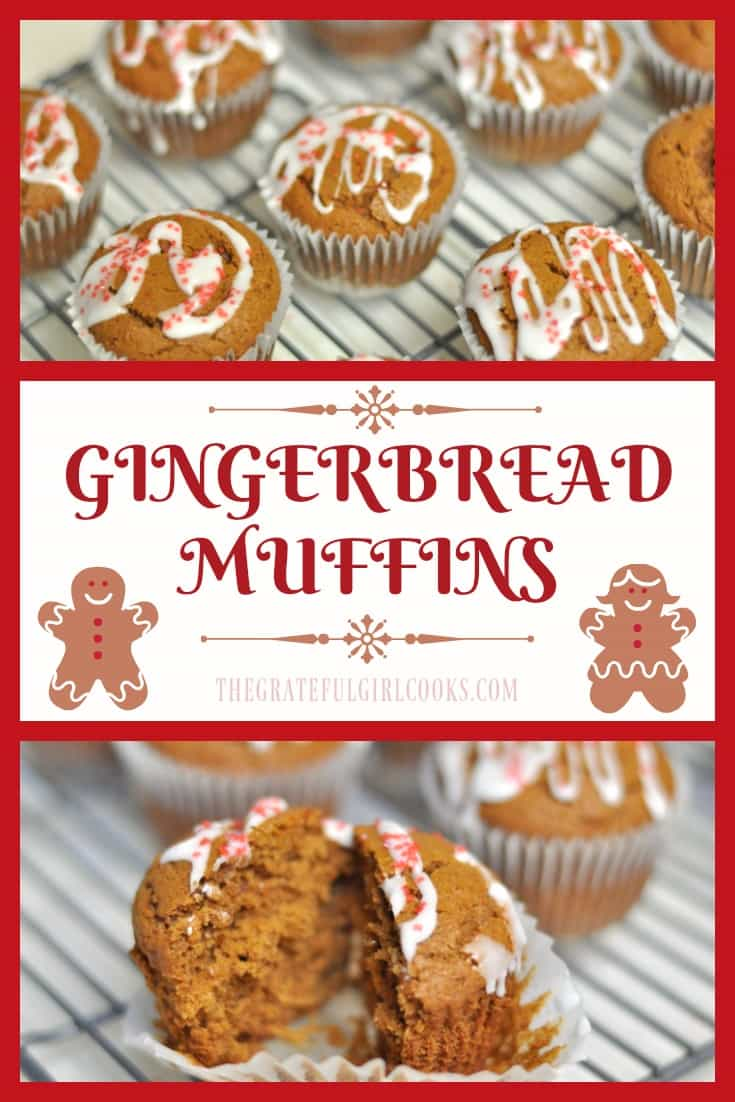 Serve these delicious and festive Gingerbread Muffins for breakfast during the holidays! They are quick, easy to make, and taste wonderful!