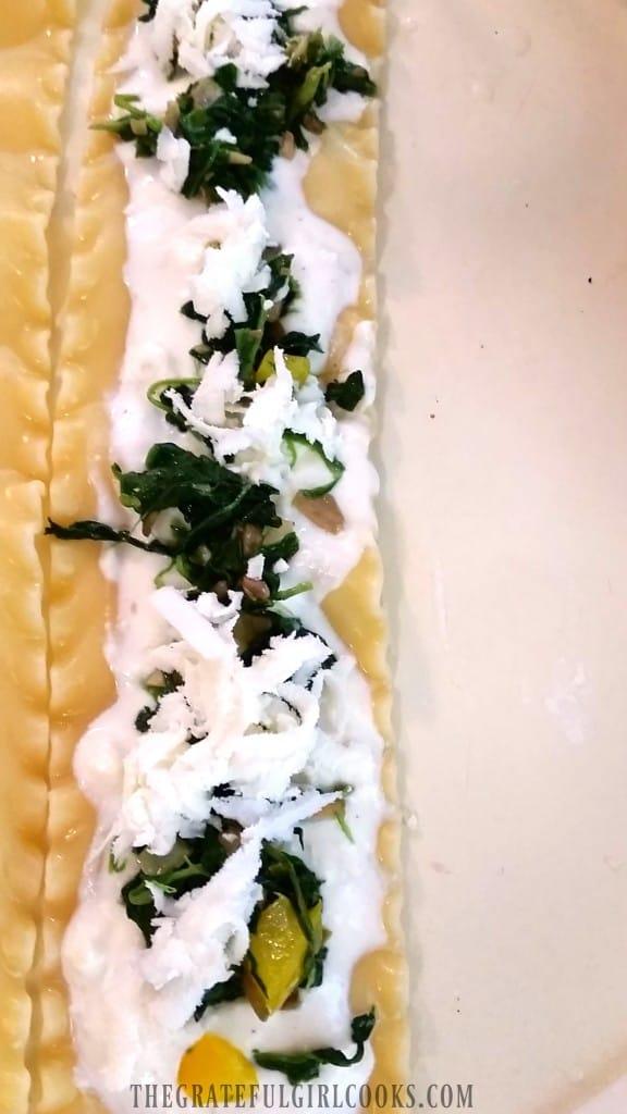 Veggie Lasagna Rollups / The Grateful Girl Cooks!