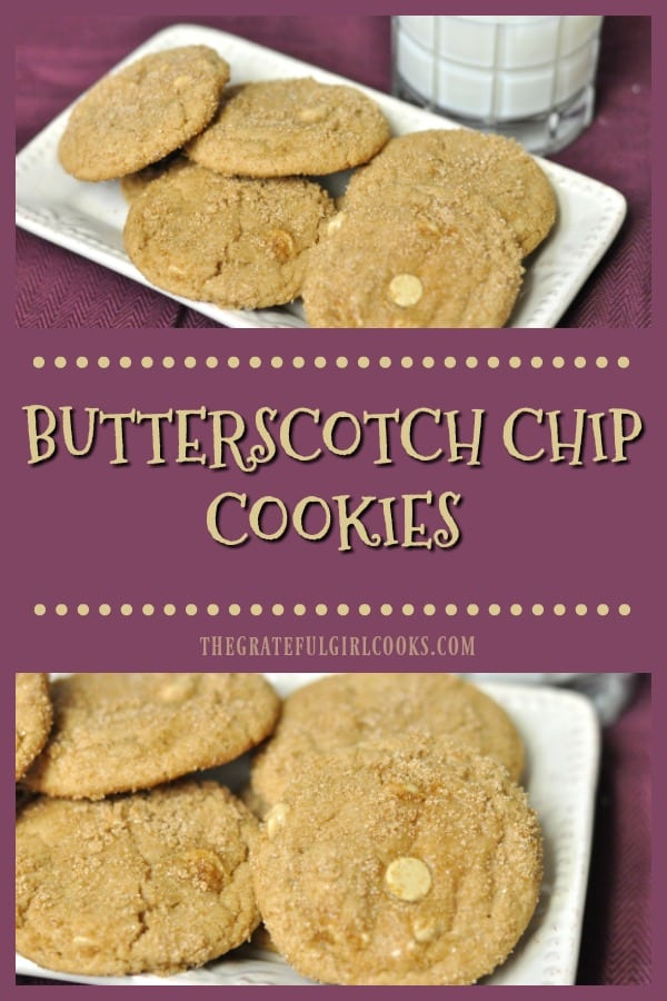 Long pin for Butterscotch Chip Cookies