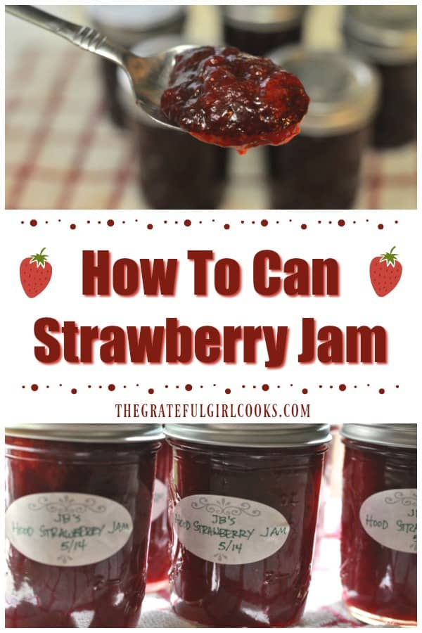 Make your own delicious strawberry jam at home and can it for long term storage, using a water bath canner and safe canning guidelines.