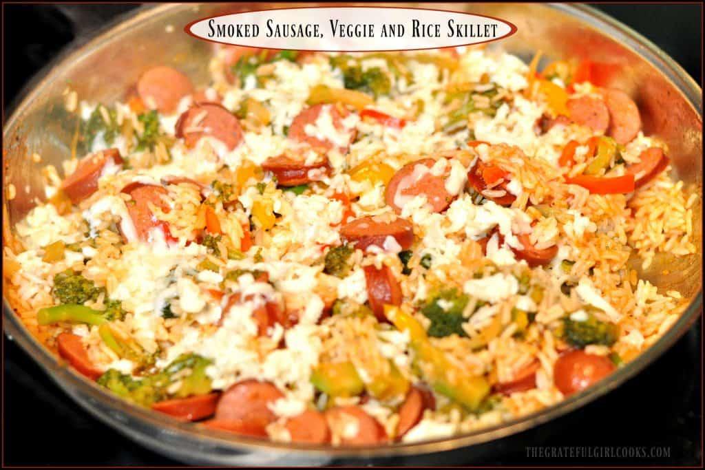 Smoked Sausage, Veggie and Rice Skillet / The Grateful Girl Cooks!