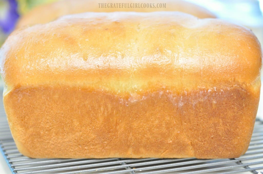 Butter-Topped Homemade White Bread / The Grateful Girl Cooks!