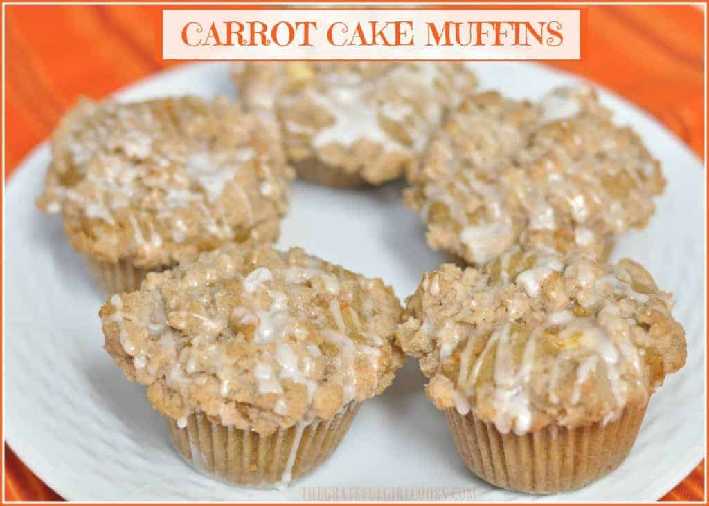 Carrot Cake Muffins / The Grateful Girl Cooks!