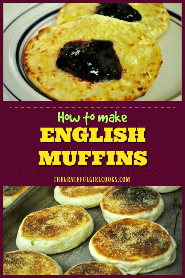 Learn how to make homemade English muffins, from scratch! Fork split and toasted, they are a wonderful, classic breakfast treat with butter and jam!
