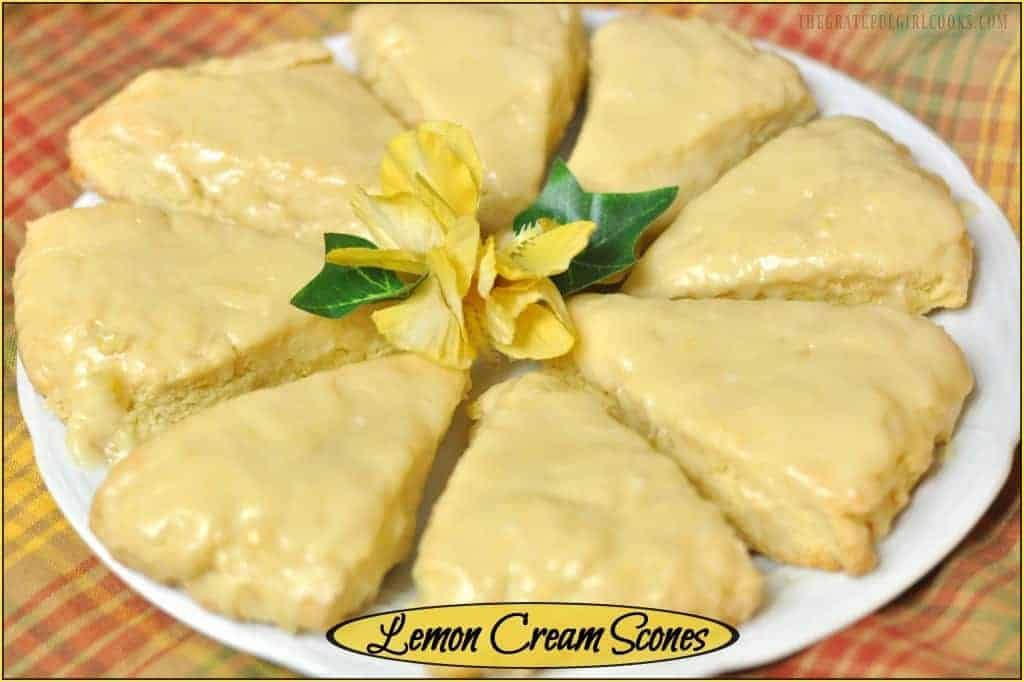 Lemon Cream Scones / The Grateful Girl Cooks!