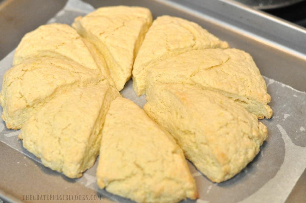 Lemon Cream Scones / The Grateful Girl Cooks!