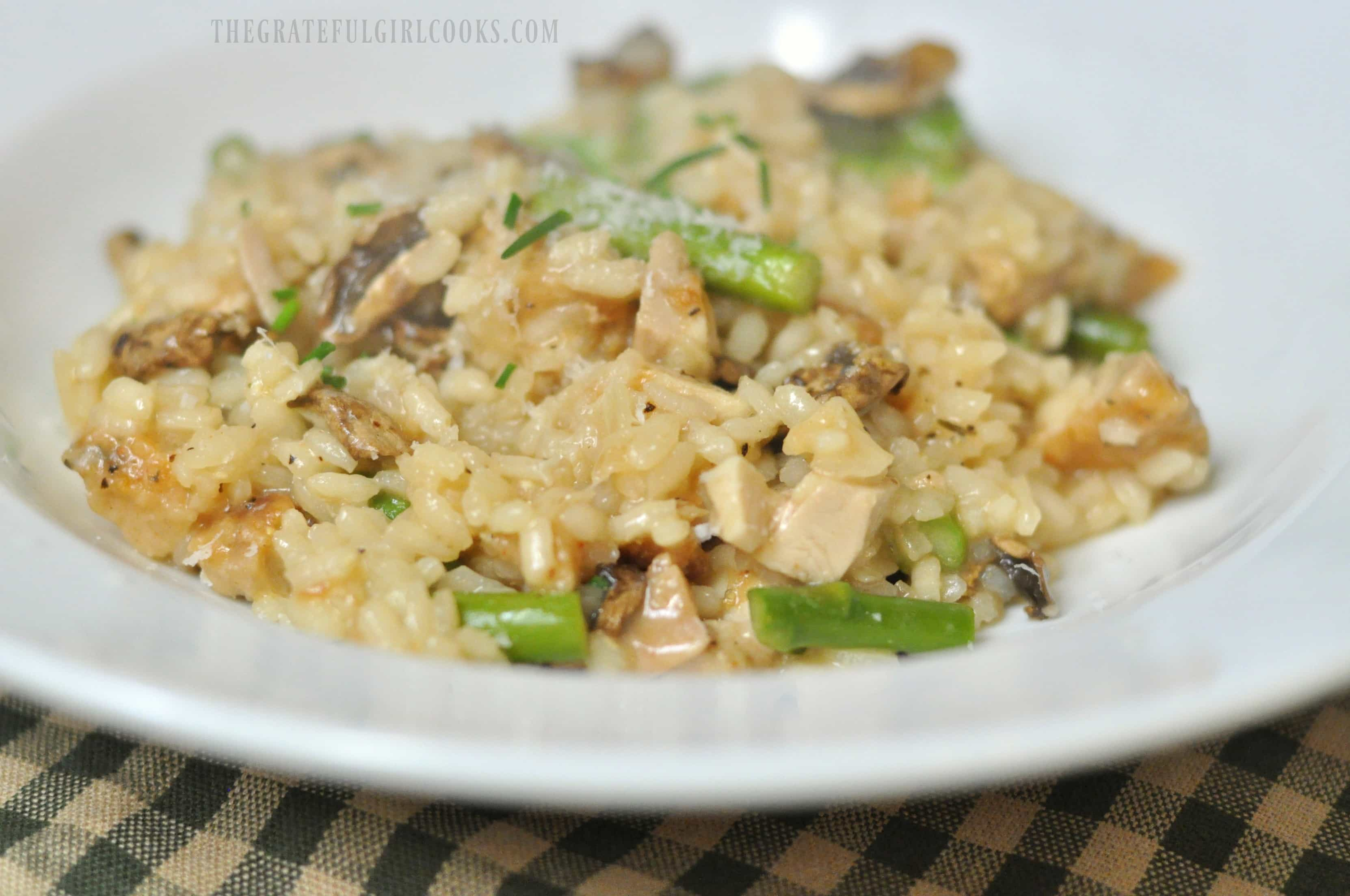 Chicken and Asparagus Risotto / The Grateful Girl Cooks!