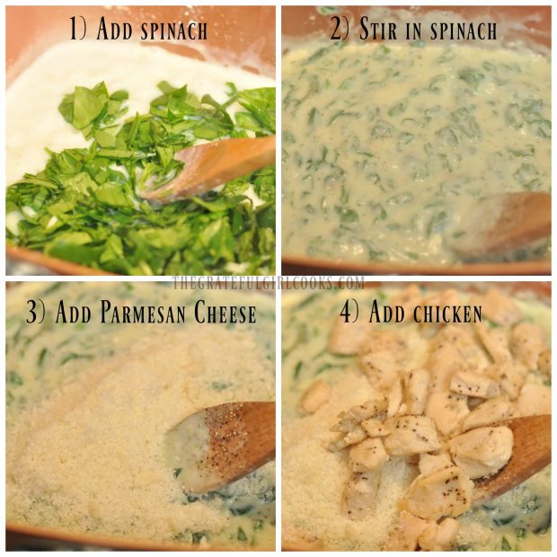 Chicken, Parmesan & Spinach Gnocchi / The Grateful Girl Cooks!