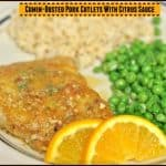 Cumin-Dusted Pork Cutlets With Citrus Sauce