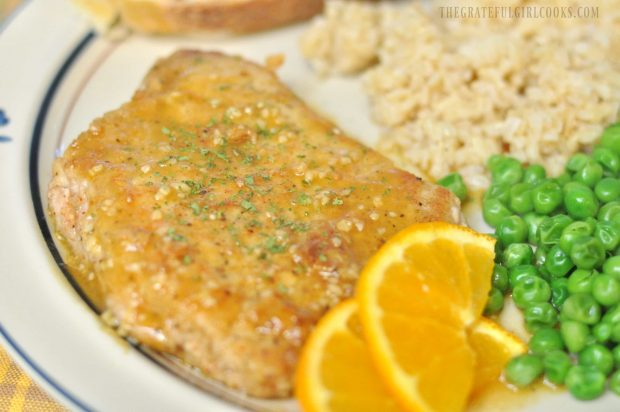Cumin-Dusted Pork Cutlets With Citrus Sauce / The Grateful Girl Cooks!