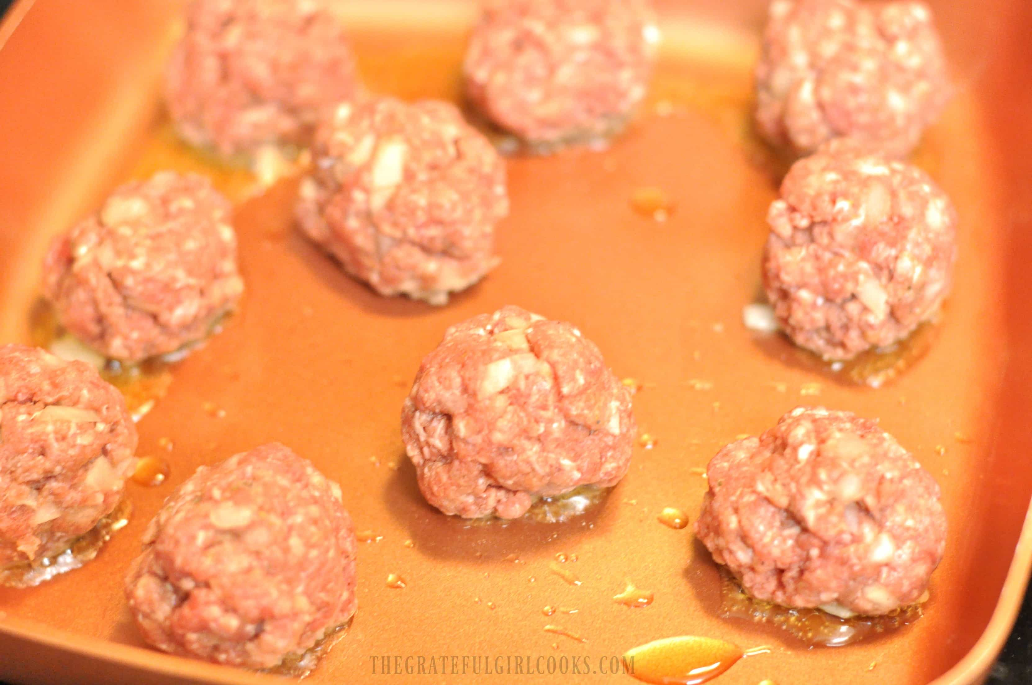 Easy Meatballs For Spaghetti / The Grateful Girl Cooks!