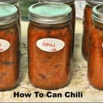 How To Can Chili