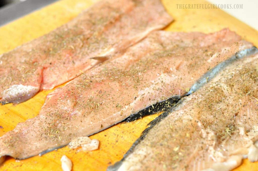 Trout In Lemon Garlic Butter Sauce / The Grateful Girl Cooks!