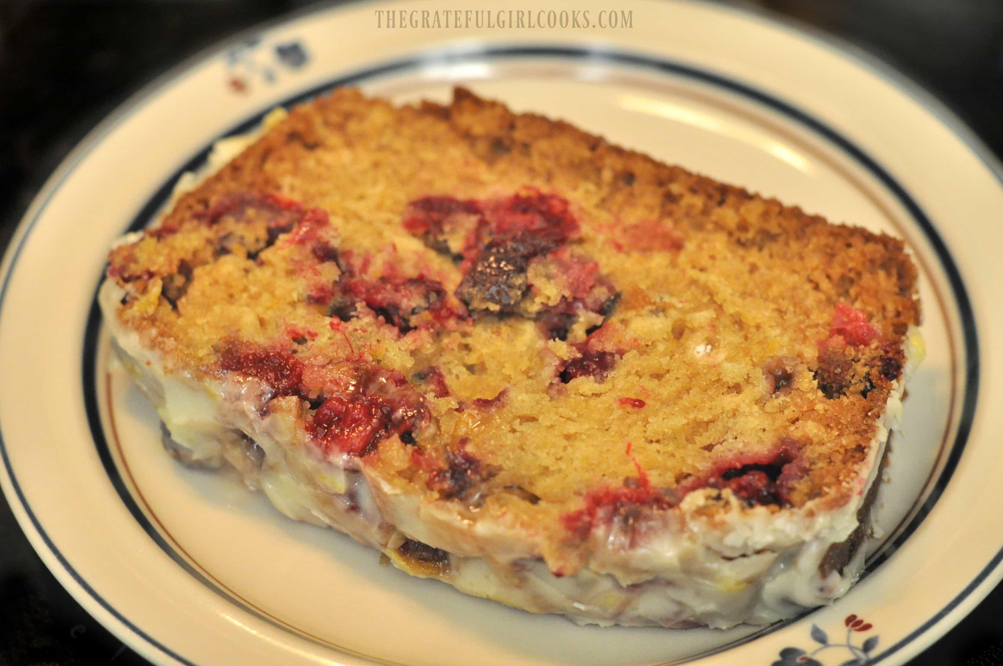Cranberry Orange Loaf With Orange Icing / The Grateful Girl Cooks!