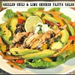 Grilled Chili & Lime Chicken Fajita Salad