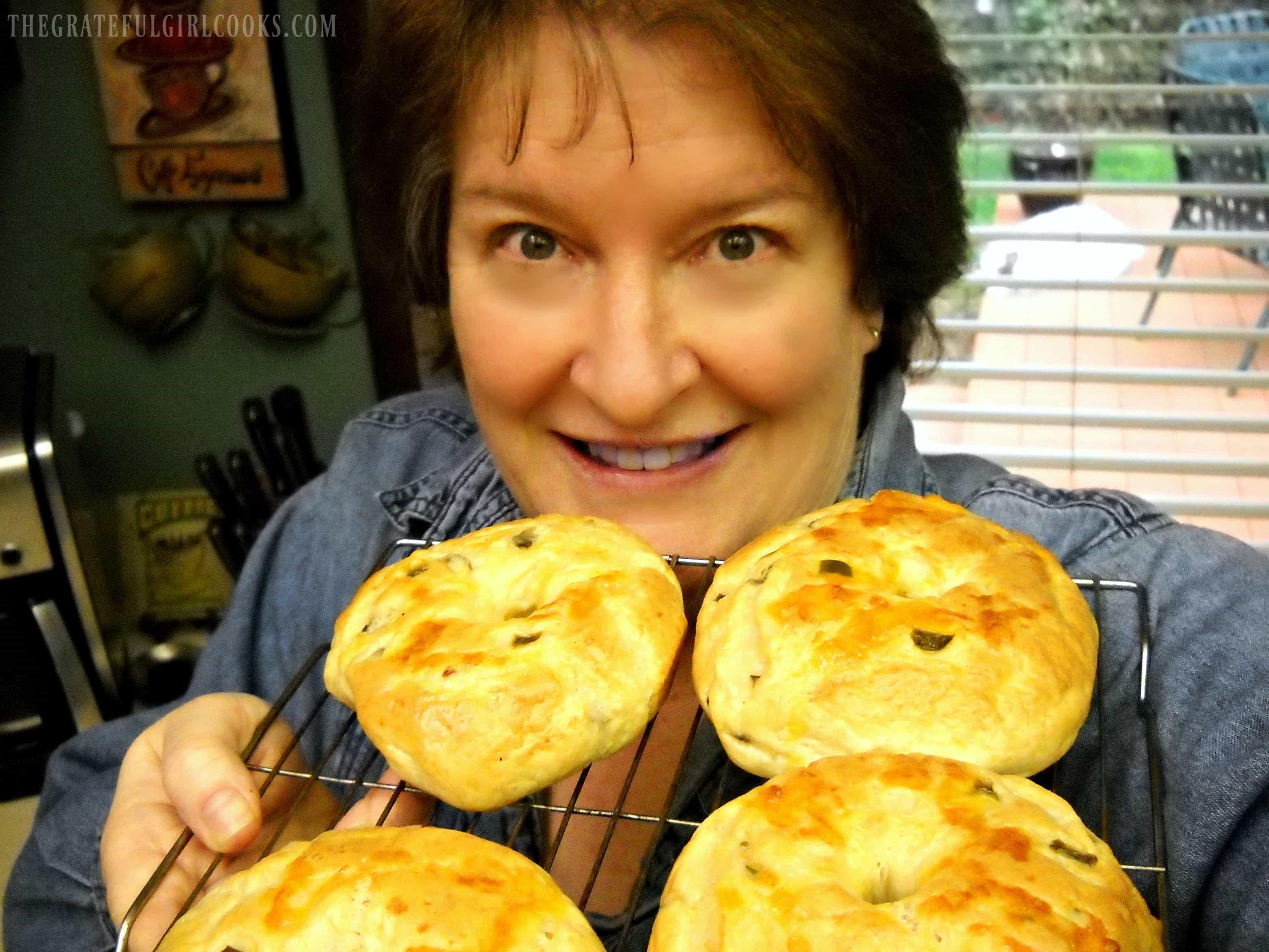 Jalapeño Cheddar Bagels / The Grateful Girl Cooks!