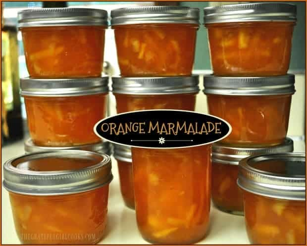With a very small investment of time, you can make 12 delicious half-pints of homemade orange marmalade for long-term storage or to give as gifts.