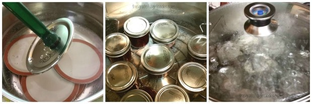 Photo of jars in water bath canner
