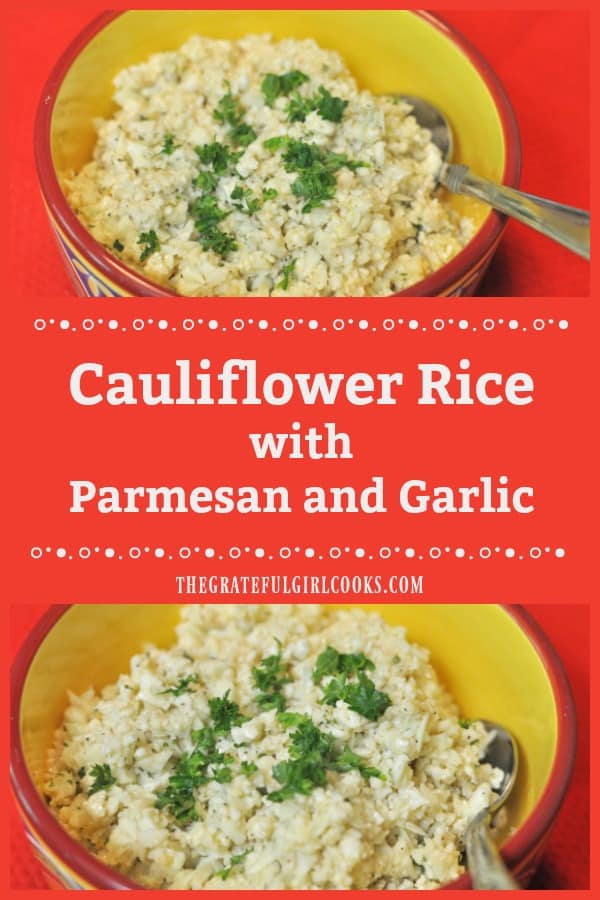 Cauliflower rice, (seasoned with Parmesan and garlic) is a trending, healthy substitute for people wanting to avoid the carbs/starches in white or brown rice!