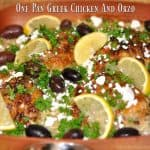 One Pan Greek Chicken And Orzo